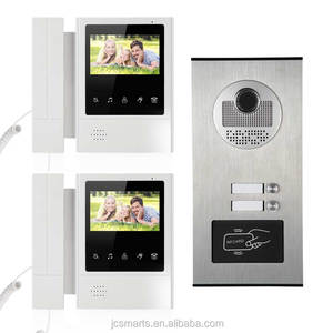 2 apartment intercom systems smart doorbell intercom video wired with RFID card reader for door access security