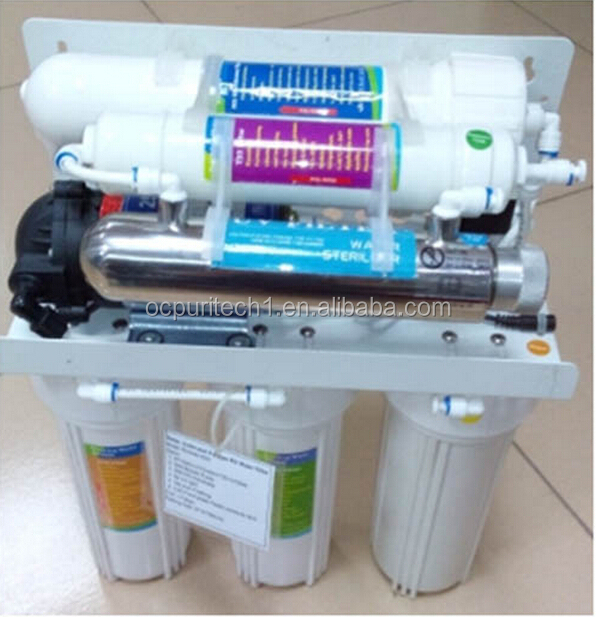 50GPD 6 Stages RO System Water Filter with UV device
