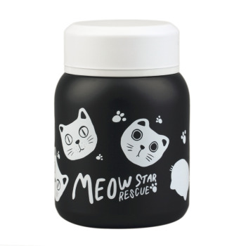 Lovely 1Pcs Cartoon Design Stainless Steel Vacuum Mug Cup Portable Outdoor Travel Thermal Insulated Mug Bottle