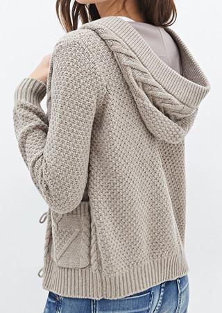a0e315241896e Hooded Cardigan Knitting Pattern
