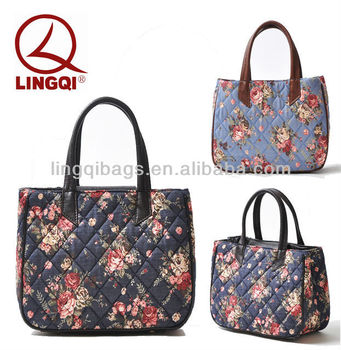 Designer Cotton Fabric Candy Flower Bags Handbags For Las