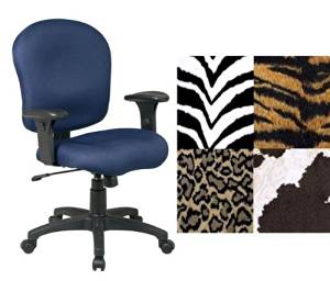 Get Quotations · Office Star SC66 Palomino Animal Print Office Desk Chairs  With Adj. Arms