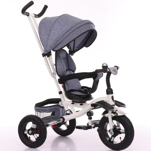 Kids Ride On Bike Trike Toy Plastic Material Baby Folding Walker Stroller Tricycle For Children With Push Handle And Umbrella