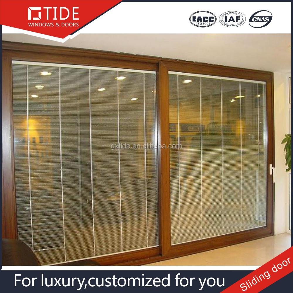 puertas correderas de aluminio y de madera heavy lift puerta corredera con elctrico persianas en