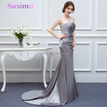 100% Real Picture Gray Mermaid Prom Dresses 2018 Latest Design ...