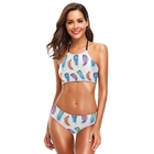 Custom Printed Swimwear Women Push Up Sexy Bikini Beach Swimsuit