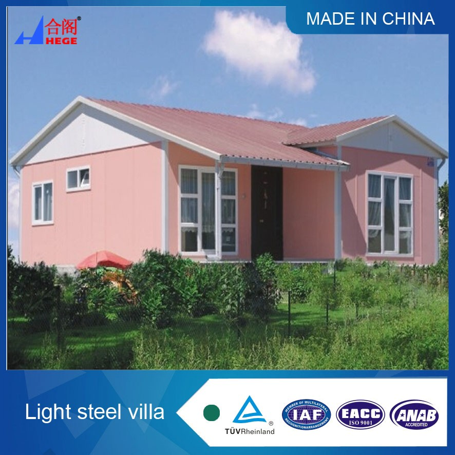 Prefabricated cement foam / light steel frame / seat / wooden house family villa