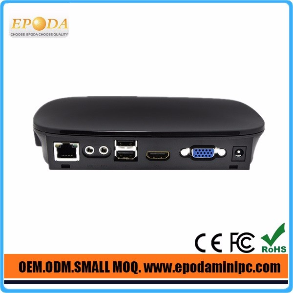 Linux hd 1080p mini tv box player industrial pc low cost network computer thin client computer