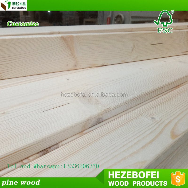 K iln dried Pine wood solid wood board /battern floor