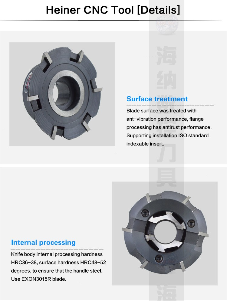 Heiner EX60 dovetail groove CNC milling cutter milling cutter machine guideway with angle