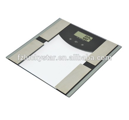 180kg tempered glass body fat weighing scale LSHJ-F003B