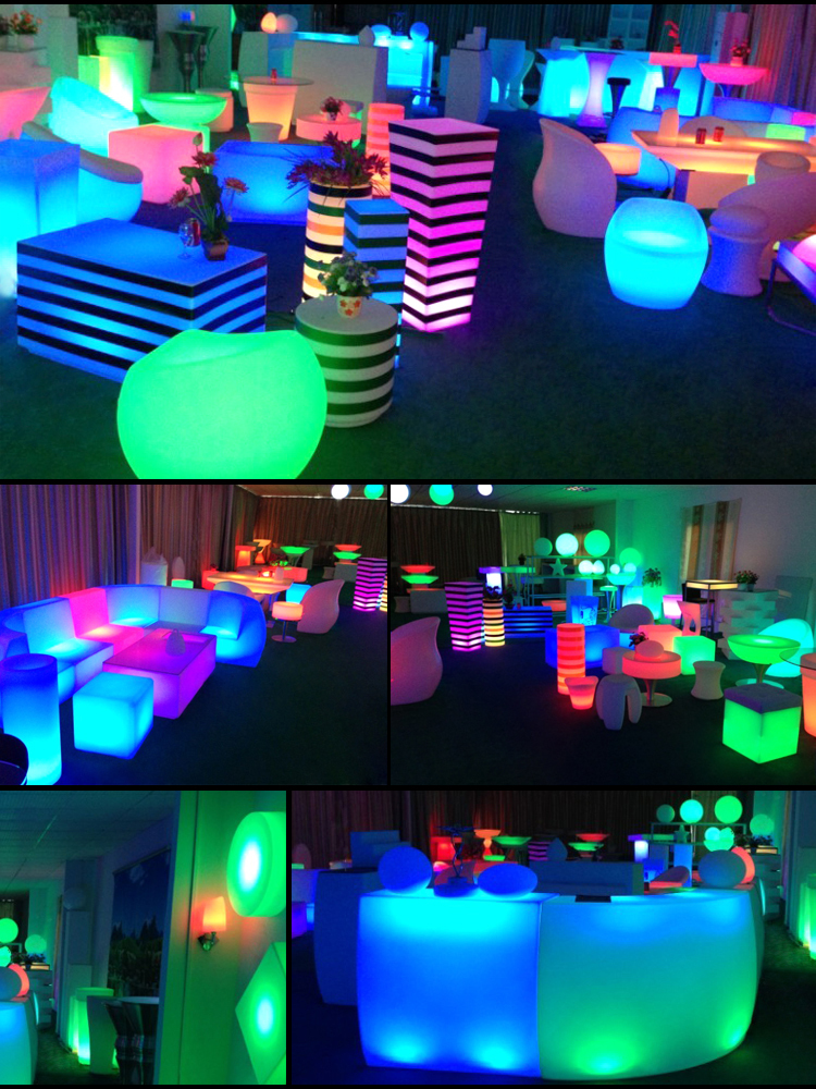 Recargable led de interior/MESA DE ILUMINACIÓN evento del club muebles