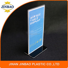 JINBAO high-end store good price custom logo sign holder clear acrylic table top display