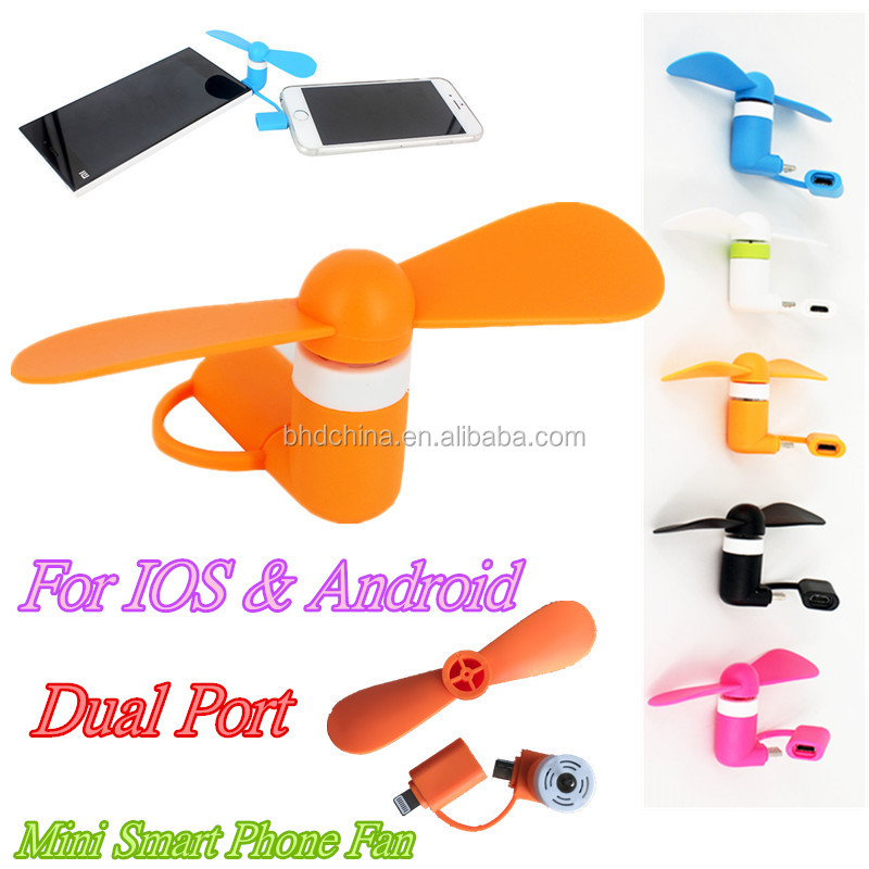 Promotion gift for OEM Micro 8 pin Flexible Mini usb hand Fans for iPhone and Android Phone