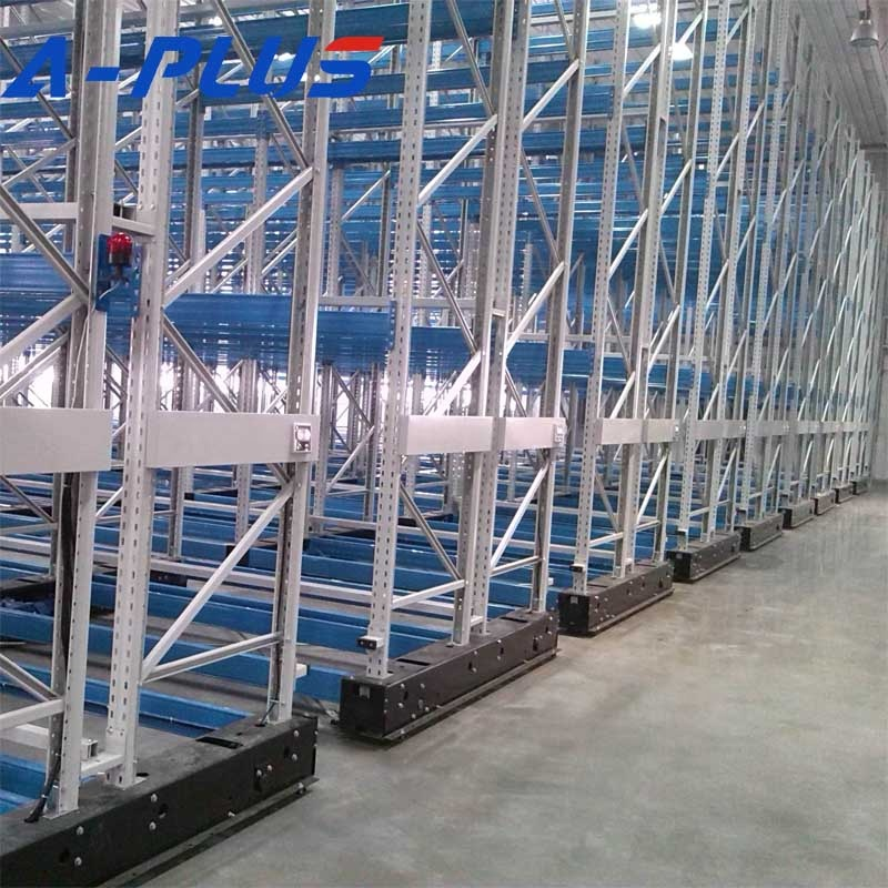 Warehouse Equipment Steel electrical movable storage pallet <strong>rack</strong> with powder coating