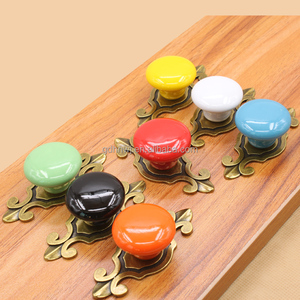 Colourful ceramic drawer furniture handles and knobs, round ceramic knobs