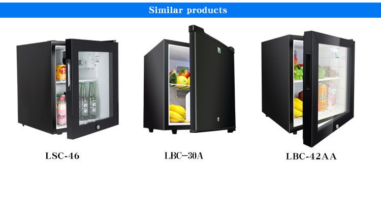LVNI hot sale no noise lower temperature 30 liter solid plastic door hotel mini bar fridge refrigerator cooler
