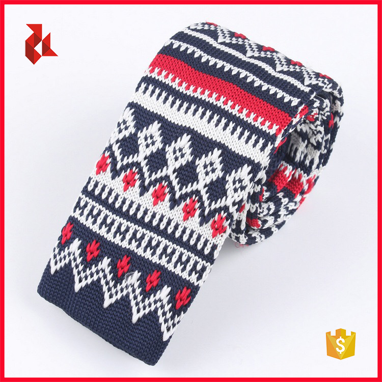 2017 New Christmas Mens Polyester Knitted Ties