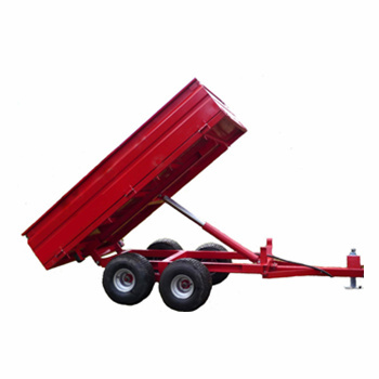 Hydraulic Tractor Dump Trailer with 4wheels 2000kgs tipper trailer for sale