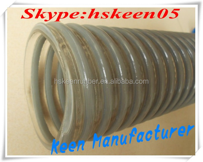 Corrugated Type Clear Wire Strength PVC Hose for golding