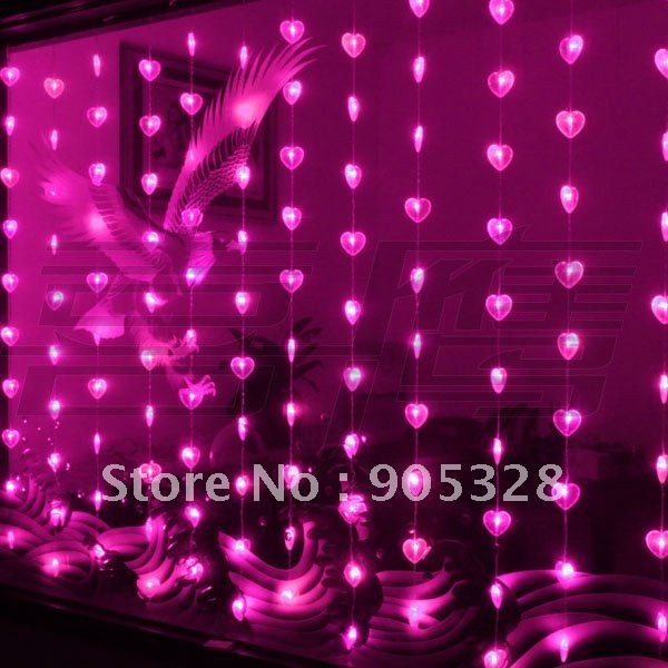 Freeshipping 2.5*1.3M LED Lights curtain string light rope lamp icicle lighting wedding home christmas decorations 2012