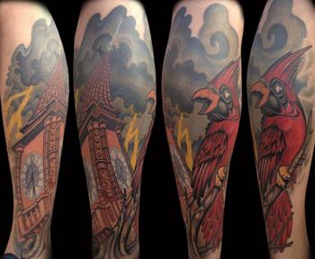 Super Gran Brazo Completo Tatuaje Temporal Tipo Cuerpo Falso Tatuaje