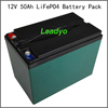 Solar energy 12V 50Ah battery pack with bluetooth