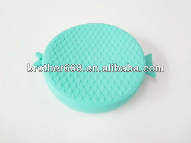 newly designed fish silicone coin purse/case/wallet High quality silicone wallet