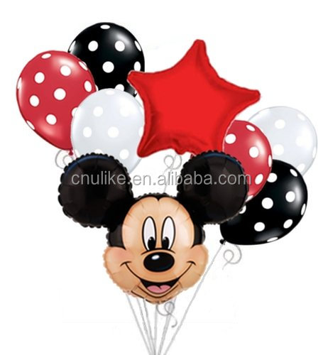 Mickey mouse palloncini Bouquet favori di partito Minnie Mouse Cartoon Foil palloncini Compleanno Festa di compleanno baby shower forniture