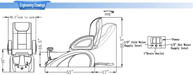 Pedicure chair supplies