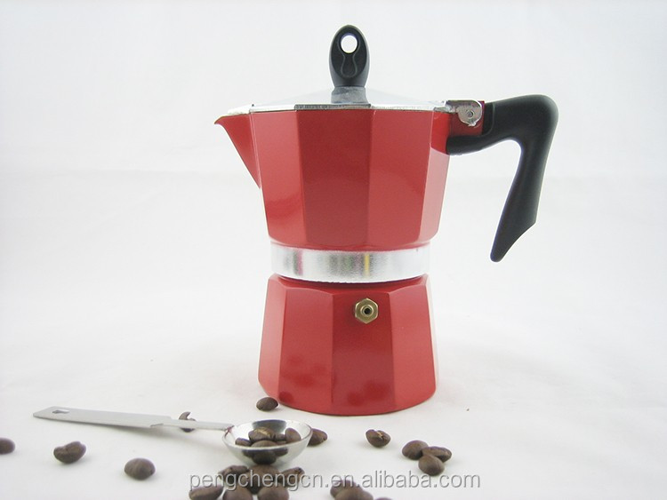 KP652 Traditional Design Caffettiera Moka Stovetop Espresso Maker
