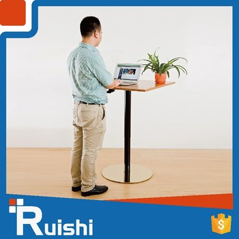 Living Room Furniture Height Adjust Cafe Table Chair Set Gas Lift - Standing cafe table