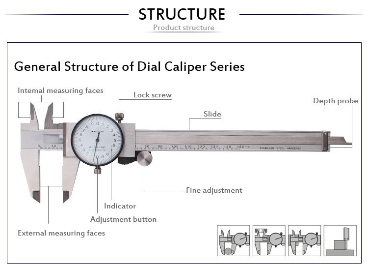 high precision internal dial caliper buy internal dial. Black Bedroom Furniture Sets. Home Design Ideas