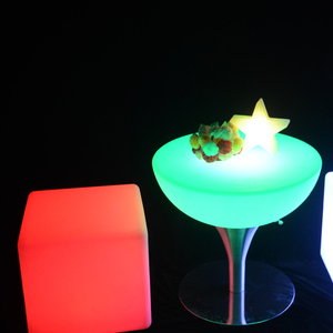 Party Use Indoor Wholesale Furniture For SaleLed Glow Cocktail Table /Led Light Up Bar Cocktail Table
