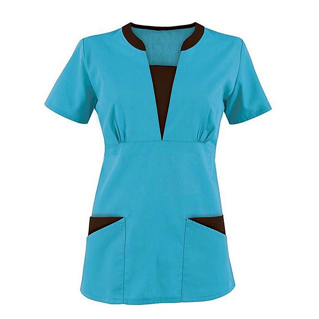 Medico Scrub Slim Fit Tunica Ospedale Uniformi Infermiera