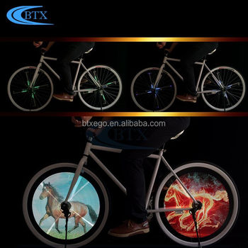 Newest DIY LED bicycle wheel light programable, wheel decoration light for bike, 18650 battery powered bike light
