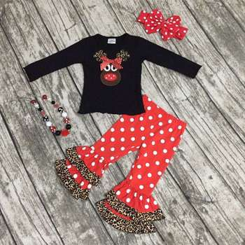 christmas boutique outfits girls Christmas outfits baby kidswear reindeer  girls clothing - Christmas Boutique Outfits Girls Christmas Outfits Baby Kidswear