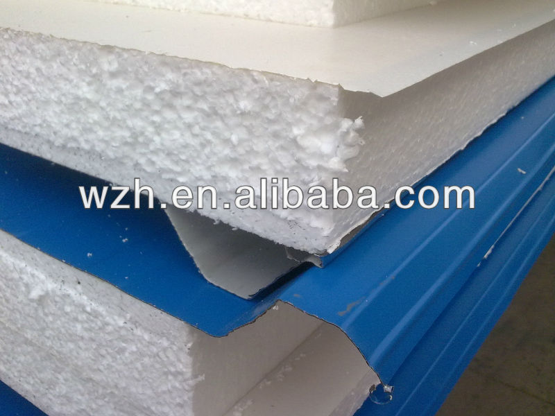 Color steel eps pvc sandwich panel/ roof panel/ wall panel