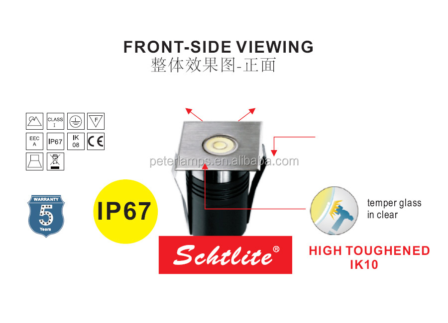 AVON58.S2 Hot Sale OEM Wholesale IP67 Stainless Steel 3W Outdoor Underground LED Light