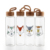 Manufacturer Sport Crystal Bamboo Lid Custom Logo Special Cartoon Glass Water Bottle