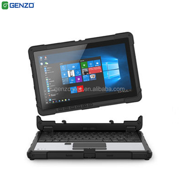 Genzo X116 convertible 11.6 inch fully rugged convertible touch laptop PC m3-7Y30