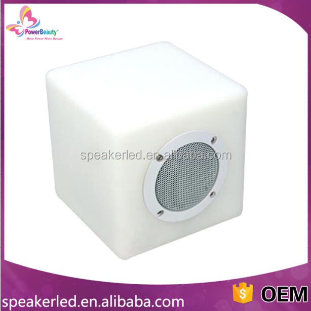 2016 active ipx4 waterproof wireless music mini cube portable bluetooth speaker with led light made in china