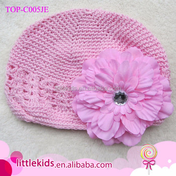 Multi Color Cute Baby Girl Infant Newborn Handmade Crochet Beanie