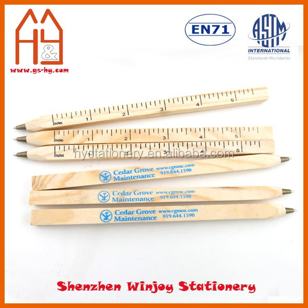Custom brand promotional wooden pen with logo printing