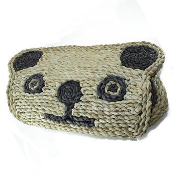 Hot Menjual Handmade Kain Kulit Jagung Kartun Hewan Panda Lantai