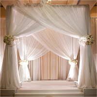 Elegant marriage decoration wedding backdrop pipe and drape kits fancy backdrops for wedding