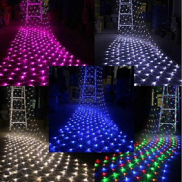 Color Changing Rgb Led Net Light For Christmas Decoration