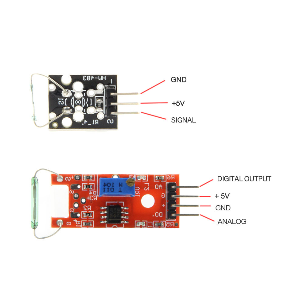 45-in-1 sensor module starter kit Linear magnetic sensor Buzzer module and Temperature sensor module