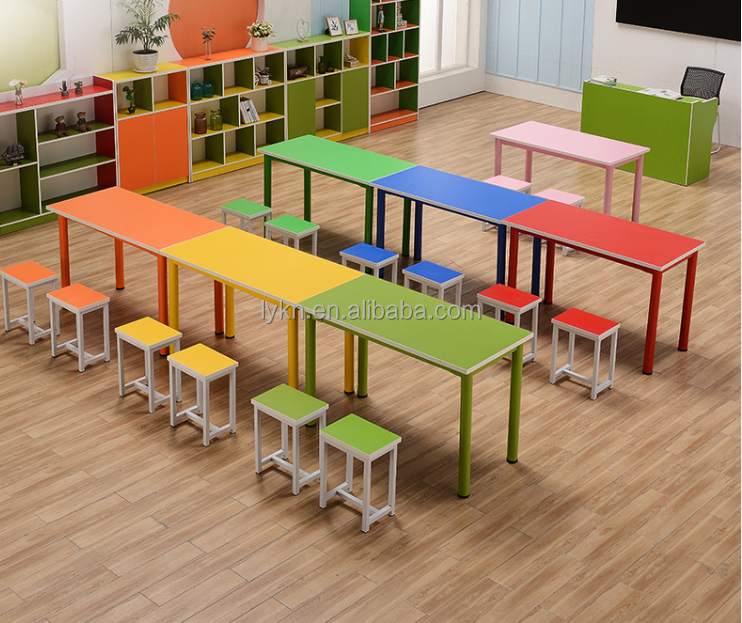 Hoge kwaliteit Schoolbank en Stoel Nursery School Furniture Kids Furniture Wholesale