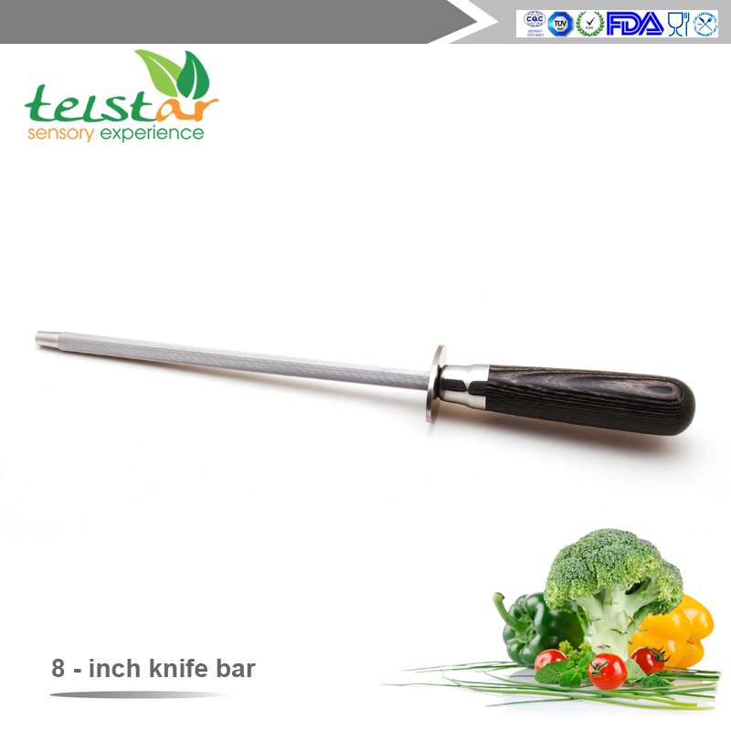 8 inch Home Multi-function Manual Stainless Steel Knife Scissors Sharpening Kitchen Whetstone